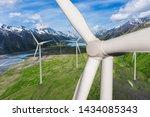 wind turbine farm power... | Shutterstock . vector #1434085343