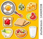 vector healthy breakfast icon... | Shutterstock .eps vector #143409238