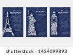 set of art ornamental travel... | Shutterstock .eps vector #1434099893