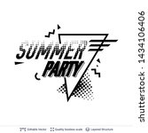 summer party ad text in pop art ... | Shutterstock .eps vector #1434106406