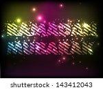 shiny text ramadan kareem. | Shutterstock .eps vector #143412043