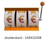 3d illustration of slot machine ... | Shutterstock . vector #143412358