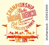 summer sports golf time vector... | Shutterstock .eps vector #143413444