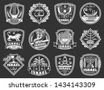 israel shield badges with... | Shutterstock .eps vector #1434143309