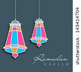 hanging colorful intricate... | Shutterstock .eps vector #143414704