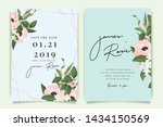 sky blue and green wedding... | Shutterstock .eps vector #1434150569
