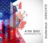 4th of july  american... | Shutterstock .eps vector #143417473
