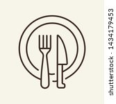 dining dishware line icon.... | Shutterstock .eps vector #1434179453