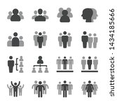 people and group icon set... | Shutterstock .eps vector #1434185666