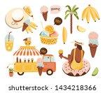 summer set  hand drawn elements ...   Shutterstock .eps vector #1434218366