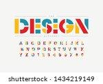 vector of stylized modern font... | Shutterstock .eps vector #1434219149