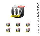 black friday   off labels | Shutterstock .eps vector #1434225863