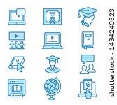 online education flat line... | Shutterstock .eps vector #1434240323