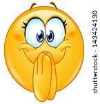 excited emoticon | Shutterstock .eps vector #143424130
