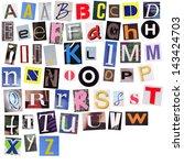 english alphabet cut from... | Shutterstock . vector #143424703