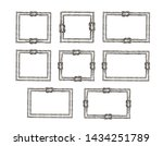 set of gray rope frame with... | Shutterstock . vector #1434251789