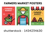 vector farmers market poster... | Shutterstock .eps vector #1434254630