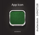 vector 3d app icon with grungy...