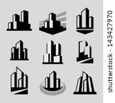 vector city buildings... | Shutterstock .eps vector #143427970
