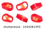 Set Of Cut Red Chili Pepper On...