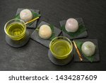 summer japanese sweets cold... | Shutterstock . vector #1434287609