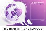 trendy modern purple background.... | Shutterstock .eps vector #1434290003