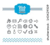 set of hand drawn web icons