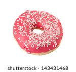 donut isolated on white... | Shutterstock . vector #143431468