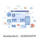 social media network  online...