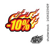 hot discount of 10   colored... | Shutterstock .eps vector #1434325409