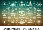 summer labels and badges design ... | Shutterstock .eps vector #1434335516