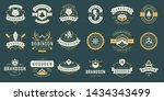camping labels and badges... | Shutterstock .eps vector #1434343499