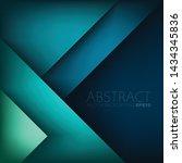 vector green turquoise blue...   Shutterstock .eps vector #1434345836