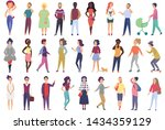 crowd of people set performing... | Shutterstock . vector #1434359129