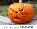 Pumpkin Cut Out As A Scary Cat...