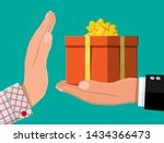 hand giving gift box to other... | Shutterstock .eps vector #1434366473