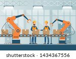 smart industrial factory in a... | Shutterstock .eps vector #1434367556