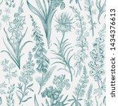 lovely garden. vintage seamless ... | Shutterstock .eps vector #1434376613