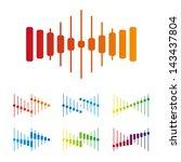 electronics wave logo template. ... | Shutterstock .eps vector #143437804