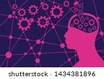 silhouette of a head. mental... | Shutterstock .eps vector #1434381896