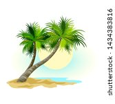 Tropical Landscape With Sunny...