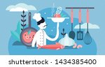 chef vector illustration. flat... | Shutterstock .eps vector #1434385400