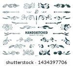 vector set of calligraphic... | Shutterstock .eps vector #1434397706
