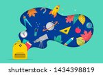 back to school  backpack with... | Shutterstock .eps vector #1434398819