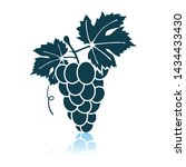 icon of grape. shadow... | Shutterstock .eps vector #1434433430