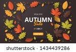 autumn sale background. folded... | Shutterstock .eps vector #1434439286