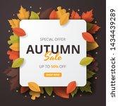 autumn sale background. folded... | Shutterstock .eps vector #1434439289