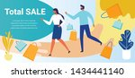 total sale banner with people... | Shutterstock .eps vector #1434441140