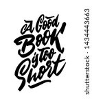 poster with phrase for book... | Shutterstock .eps vector #1434443663