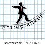 entrepreneur business man walks ... | Shutterstock .eps vector #143444608